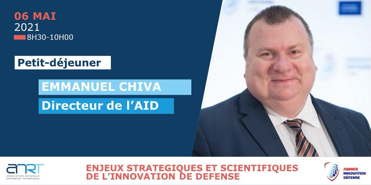 📅#SaveTheDate Petit-déjeuner ⬇️ Le 6 mai nous accueillerons @echiva, directeur de l'@Agence_ID pour parler des enjeux stratégiques et scientifiques de l'innovation de défense. Inscriptions (🔒membres ANRT)👉https://t.co/bVE3etMD64 #Innovation #defense #Recherche