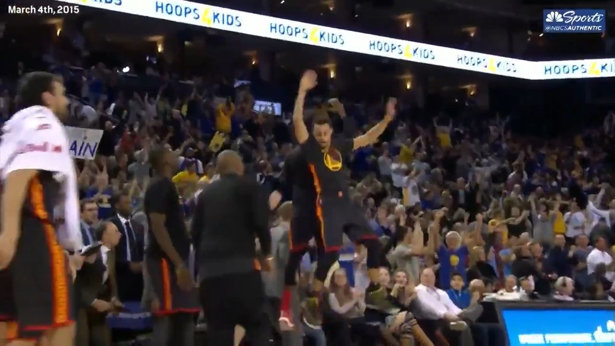 .@JaValeMcGee wasn't happy the first time @StephenCurry30 pulled off a no-look 3-pointer 😂 https://t.co/tNH1J0cKlr https://t.co/9sg04TSUO9