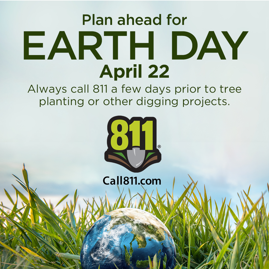 test Twitter Media - With #EarthDay just one week away, remember to #Call811 today if your celebrations for the planet involve planting trees or other greenery. Always #KnowWhat'sBelow by taking advantage of the free 811 service before disturbing the ground in any way. https://t.co/oUAQXpTGL7