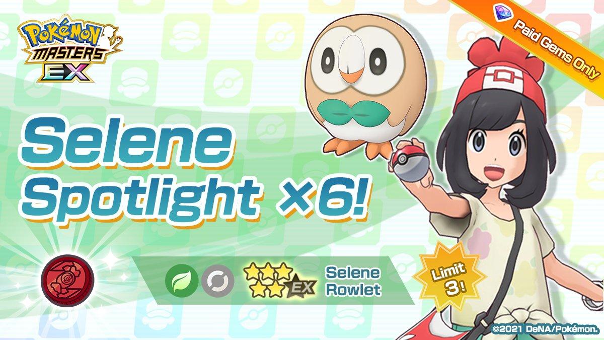 Selene y Rowlet Pokémon Masters EX