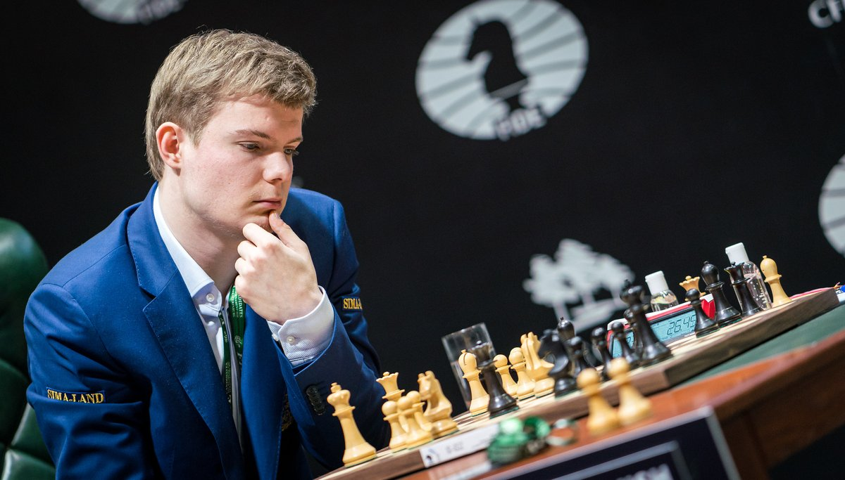 test Twitter Media - It is Kirill Alekseenko. The 23-year-old Russian grandmaster finished third at the FIDE Grand Swiss 2019 and became eligible for a wild card. https://t.co/iyFiolzZO2