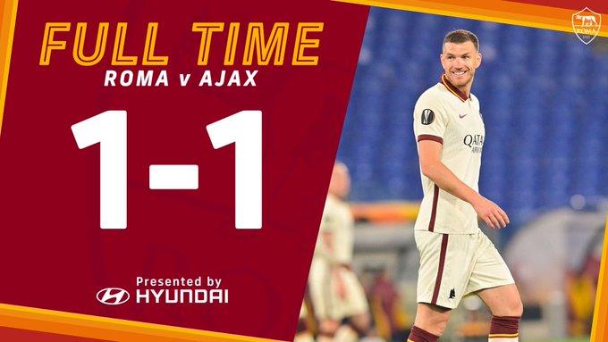 Skor akhir AS Roma 1-1 Ajax Amsterdam