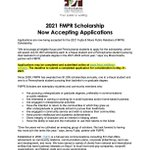 Image for the Tweet beginning: FMPR Scholarship applications are now