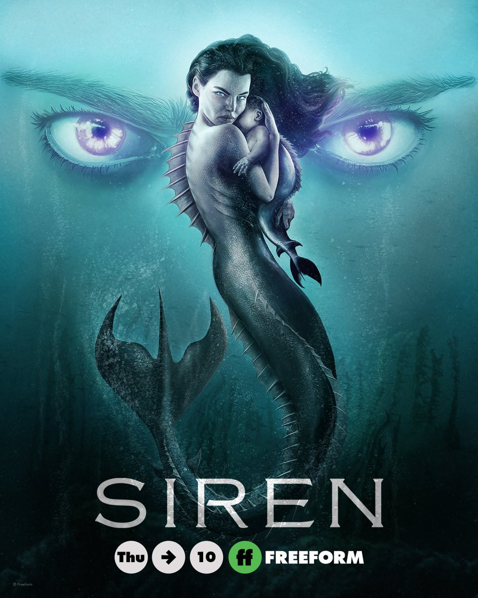 Funny thing about #Siren. The promos on TV, before it premiered, were very intriguing -- a series about mermaids with a moody, dramatic tone, the diametric opposite of the Disney version we all know. But we could never figure out where or when it was on, so we forgot about it.
