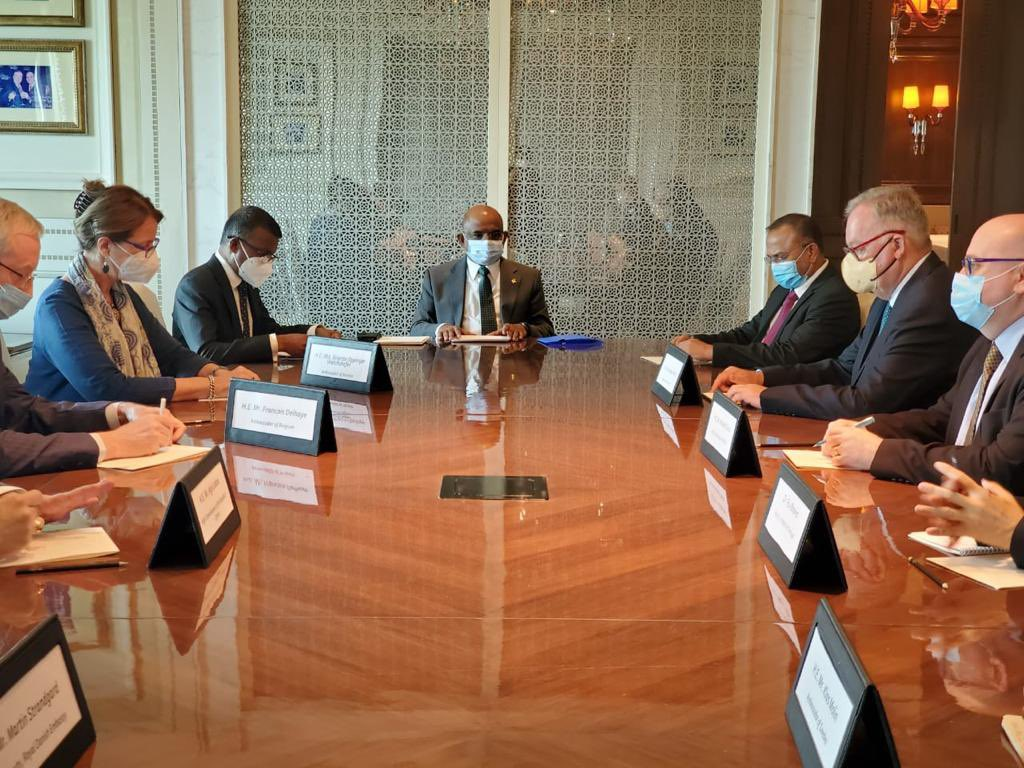 RT @abdulla_shahid Enjoyed my discussions with the Envoys of Austria, Belgium, Cyprus, Ireland, Malta, & Sweden, and representatives from Denmark, Iceland and Portugal, today.   Topics discussed range from climate change, sustainable development, gender equality, to multilateral institutions.