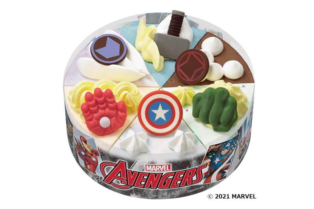 サーティワンアイスクリームからマーベル仕様の『マーベル アベンジャーズ / パレット6』が登場!キャプテン・アメリカなど6名をイメージしたケーキが可愛い!
