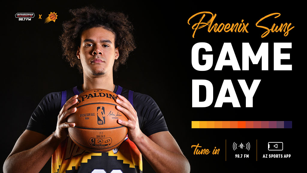 🏀☀️ It's time for Phoenix basketball! ☀️🏀  The #Suns look for their fourth straight win when they take on the Kings.  Tune to 98.7 FM. https://t.co/9QVcVtv5tY