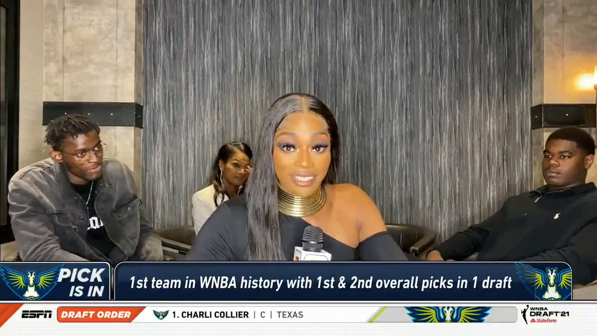 Charli Collier had a heartfelt response when asked about the influence of her late father and her mother ❤️  @espnW | #WNBADraft https://t.co/pbeW5oWebY