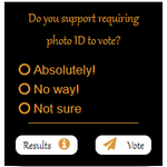 Image for the Tweet beginning: Do you support requiring photo