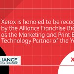 Image for the Tweet beginning: Xerox is honored to be