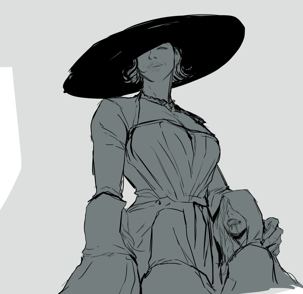 RT @BS_artsss: Of course im gonna draw more Lady Dimitrescu/Daughters/Maiden stuff. https://t.co/U0EE8MIq3M