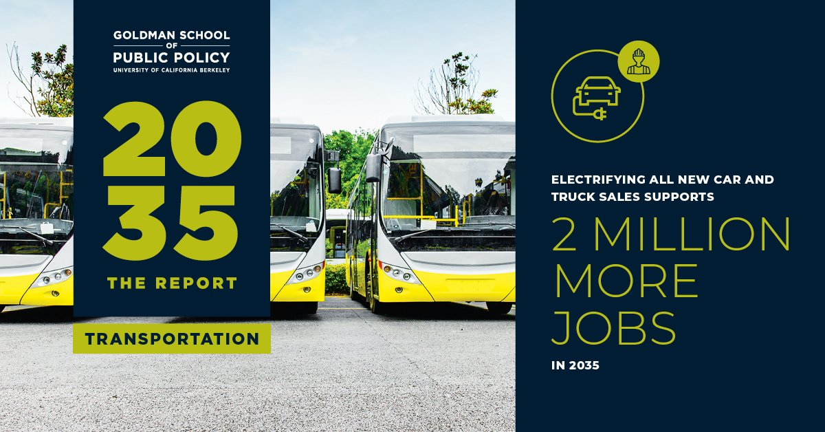 Electric vehicles only ⚡🚗 By 2035 ⌛  This #2035TransportationReport from @UCBerkeley lays out a pathway for how it might be done: https://t.co/5hTPqkjB8b https://t.co/so6IpBhtcF