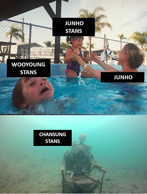 RT @2PMMEME1: The way stans young boy of 2PM🤣 described in one pict.🧐🤣🤭 #2PMmeme #WOOYOUNG #JUNHO #Chansung https://t.co/ZMjCnybnRK