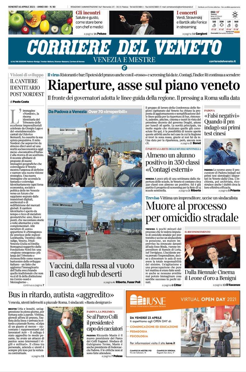 #Venezia Buongiorno con la prima pagina del Corrie...