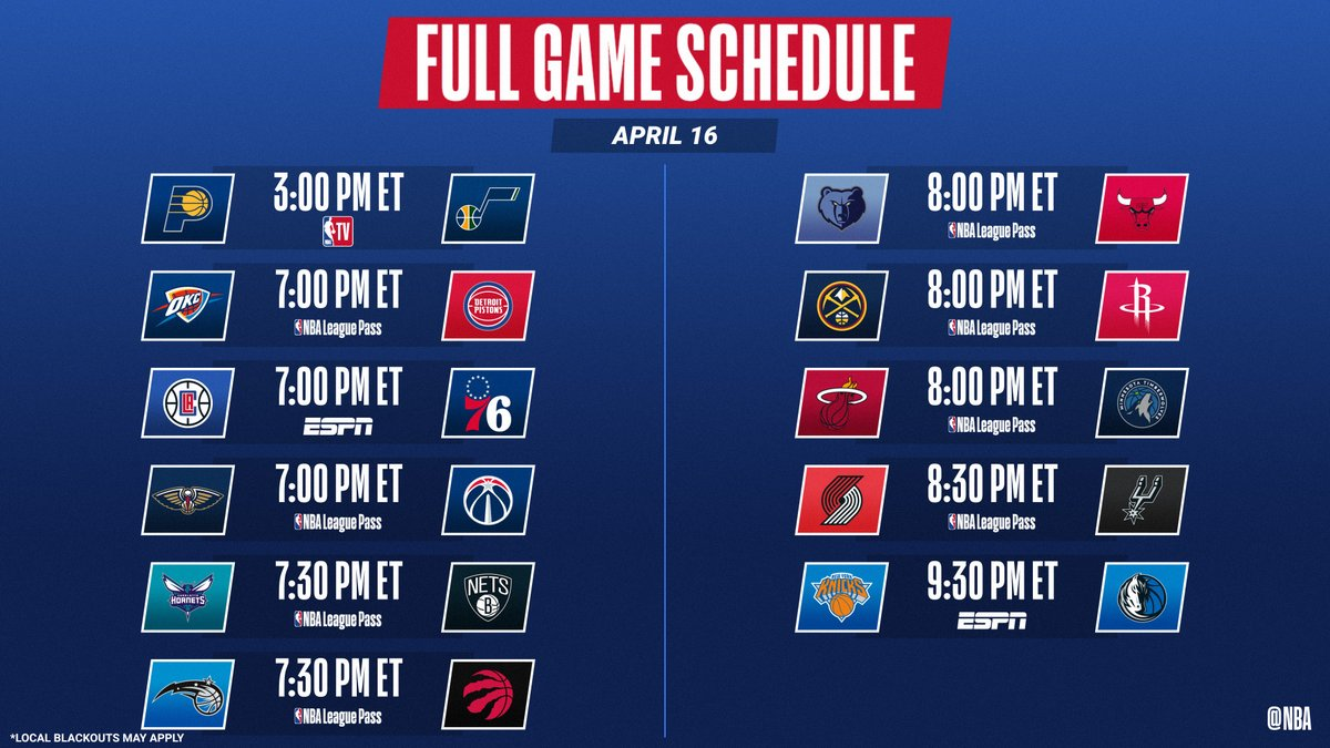 11-game Friday slate!  📺: ESPN 📱💻: NBA TV, NBA League Pass ➡️: https://t.co/VexAprpikW ➡️: https://t.co/Laecx0GSYx https://t.co/EYMpT1H48Y