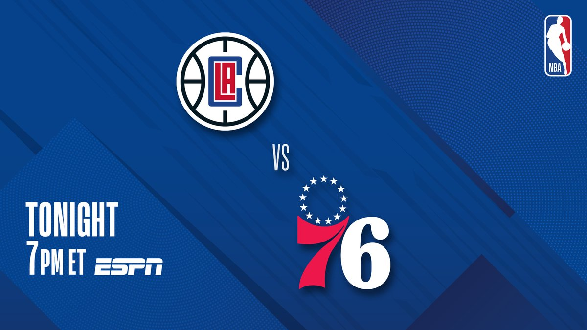 ▪️ Clippers seek 8 straight wins ▪️ 76ers seek 4 straight wins ▪️ Embiid last game: 39 PTS, 13 REB  #3 in West @LAClippers vs. #1 in East @sixers at 7 PM ET on ESPN! https://t.co/oSU2M9xre8