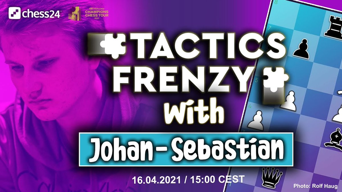 test Twitter Media - After that, at 15:00 CEST, Johan-Sebastian will be solving problems and explaining his thoughts with Tactics Frenzy!  https://t.co/d4c6S4xinr #ChessChamps #Airthings https://t.co/gbHJ1FmomQ