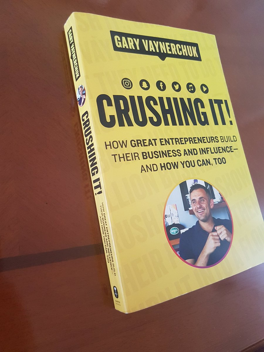 I remember reading the hard copy of #crushingit by @garyvee after purchasing it the day after my graduation. Back in 2018 all I did was consume content. The one thing I wish I did was start documenting back then already. Now I am listening to the book and executing on my ideas 😁