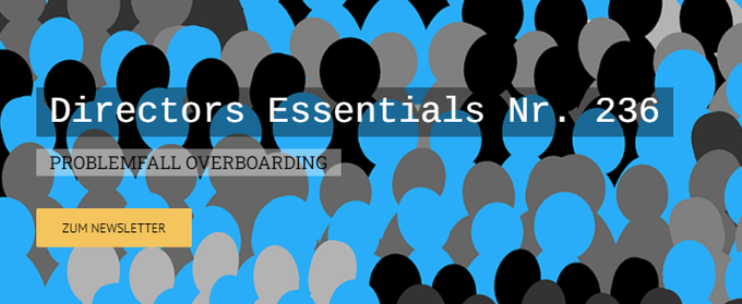 Directors Essentials Nr. 236PROBLEMFALL OVERBOARDING
