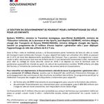 Image for the Tweet beginning: 🚲SOUTIEN DU #GOUVERNEMENT POUR L'APPRENTISSAGE