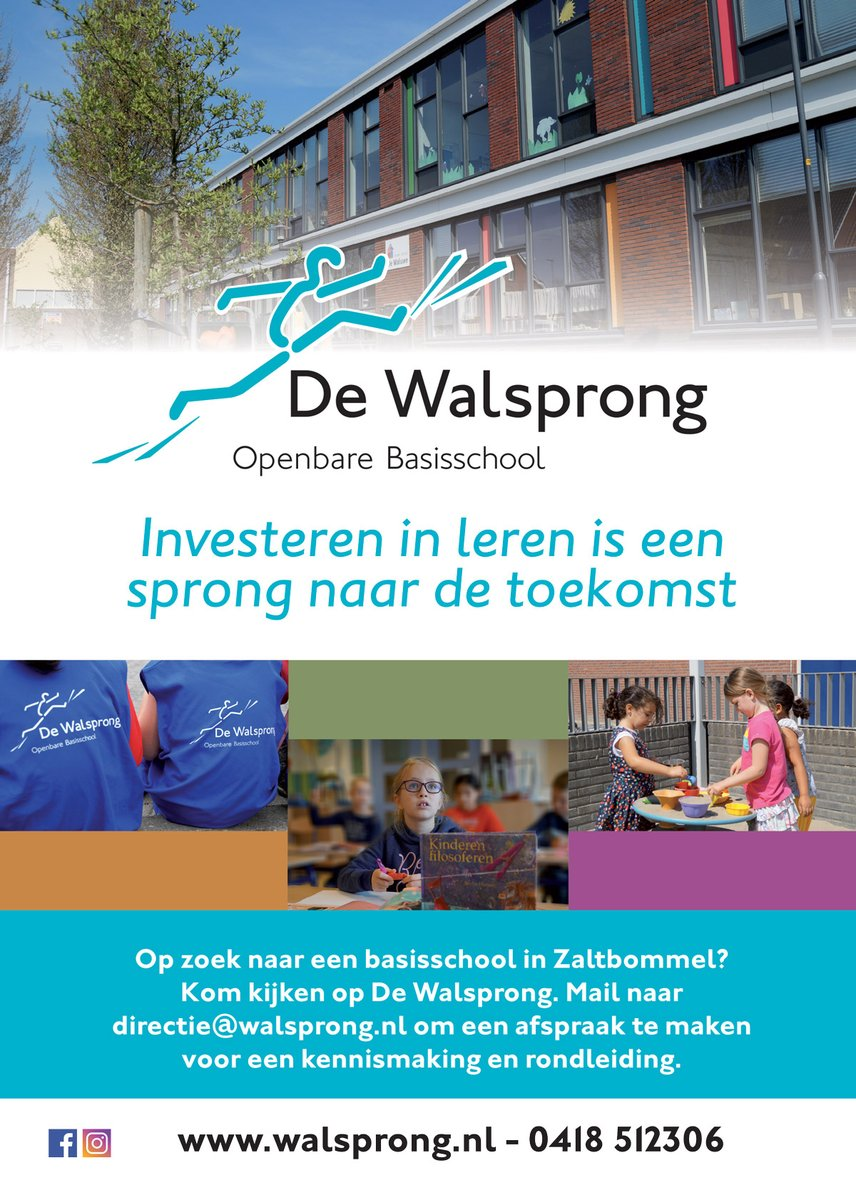 test Twitter Media - Op zoek naar een basisschool in Zaltbommel? Kom kijken op De Walsprong. Mail naar directie@walsprong.nl om een afspraak te maken voor een kennismaking en een rondleiding. https://t.co/ds4E1ygsMK
