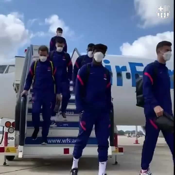 📍 Seville, Spain 🛬 #CopaBarça  👋 ¡𝘏𝘰𝘭𝘢, 𝘚𝘦𝘷𝘪𝘭𝘭𝘢! https://t.co/u9oSqGMQh0