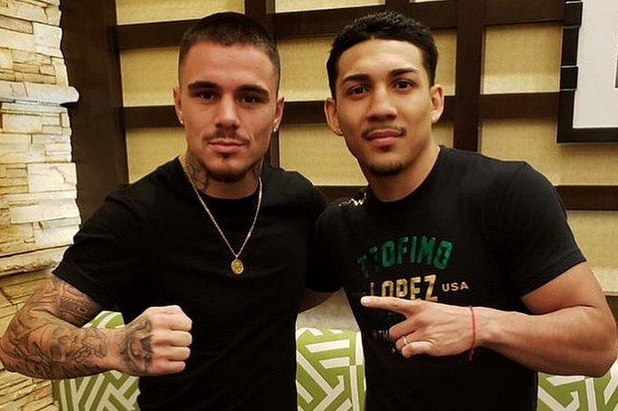 Teófimo López y George Kambosos Jr. anunciaron oficialmente su pelea del próximo 5 de junio, y los ánimos se caldearon entre ambos.
