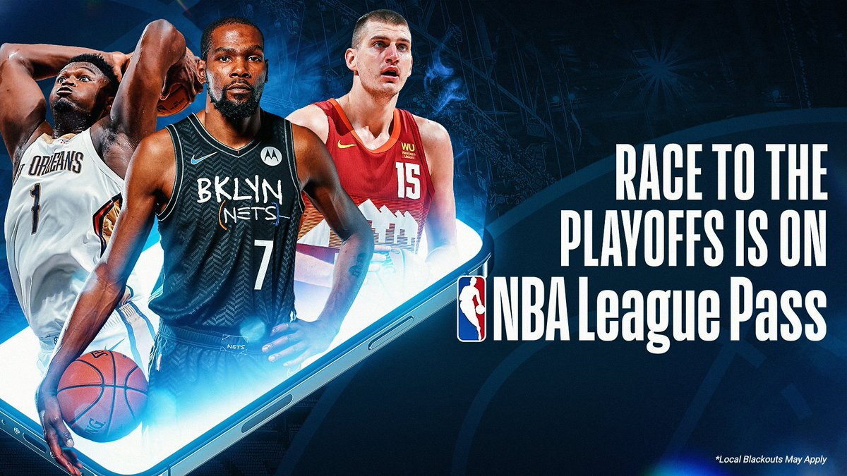 ▪️ Zion averaging 29.7 PPG in his last 10 games as Pelicans visit Wizards ▪️ KD averaging 28.2 PPG as Nets host Hornets ▪️ Jokic, Nuggets hit the road vs. Rockets  The race to the NBA Playoffs is on! Start your NBA League Pass Free Trial ➡️ https://t.co/86cqtbSdBZ https://t.co/OrRrDU6CQ5