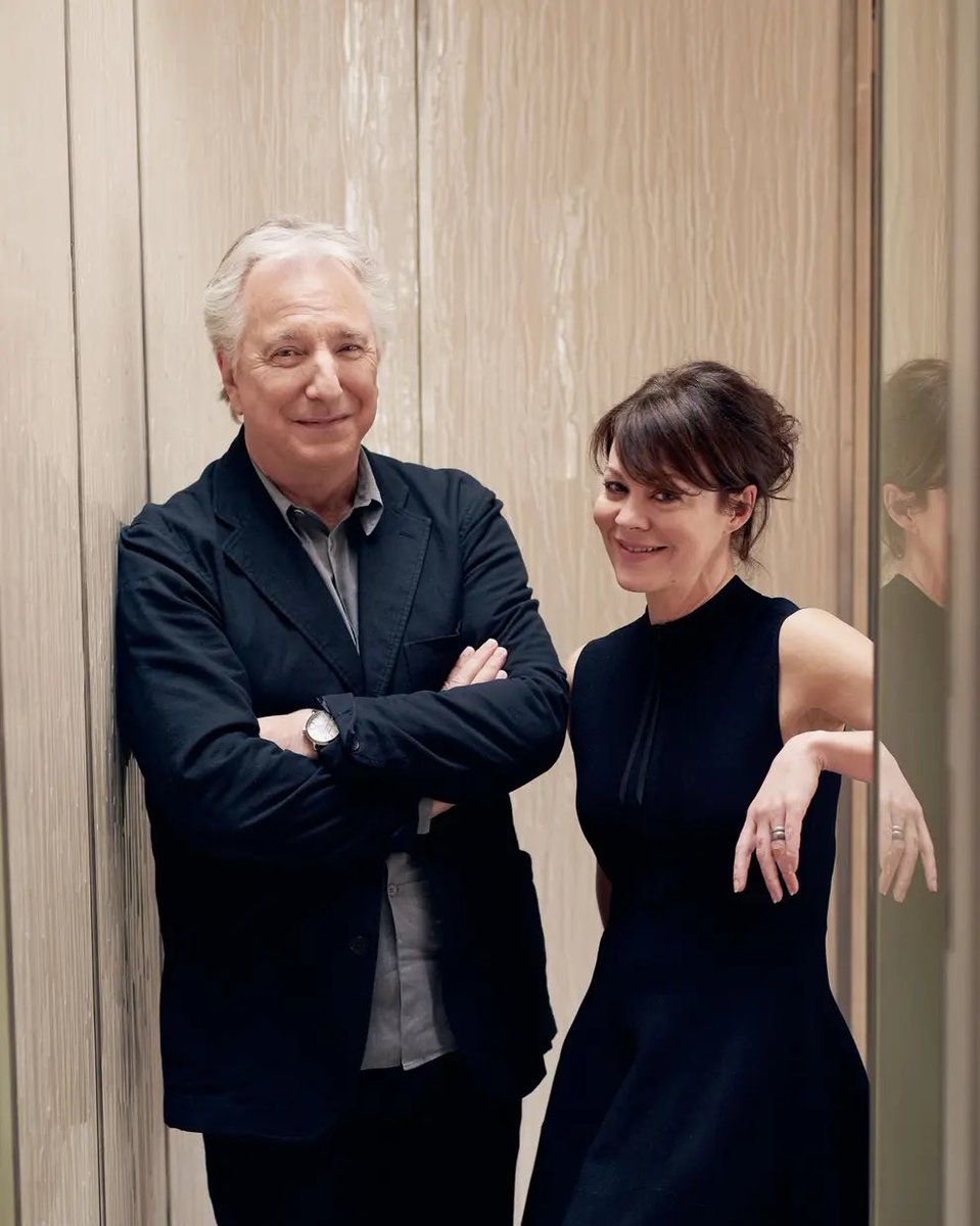 Replying to @streep_lover: I hope Alan Rickman will throw a proper welcome party to Helen Mccrory in heaven today 💔