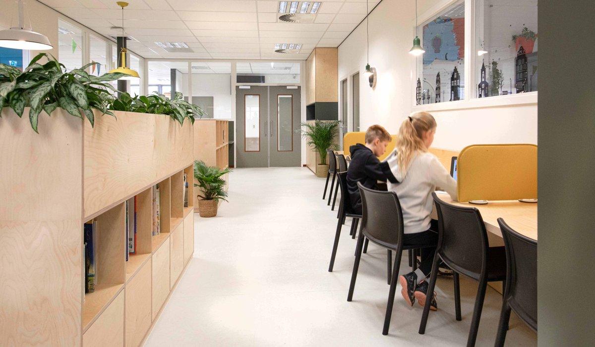 test Twitter Media - HET ONTWERPLOKAAL ontwerpt een nieuw interieur voor de Rozenbeek school in Velserbroek. Het samengaan van 2 gebouwen was een mooie gelegenheid om de bestaande vestiging te revitaliseren, verduurzamen en er een gezonde school van te maken. https://t.co/xTc8buwLAh