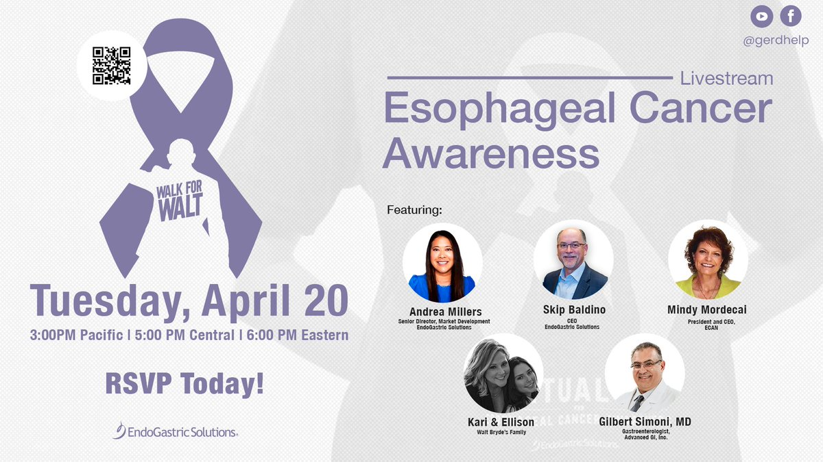 You won't want to miss a special TIF Talk Facebook Live event to raise awareness and honor those touched by #EsophagealCancer, during #EsophagealCancerAwarenessMonth. Join us on Tuesday, April 20 at 6:00 pm ET | 5:00pm CT | 3:00pm PT. RSVP today: https://t.co/p4YVVuGsSa https://t.co/CaFFluh0c4