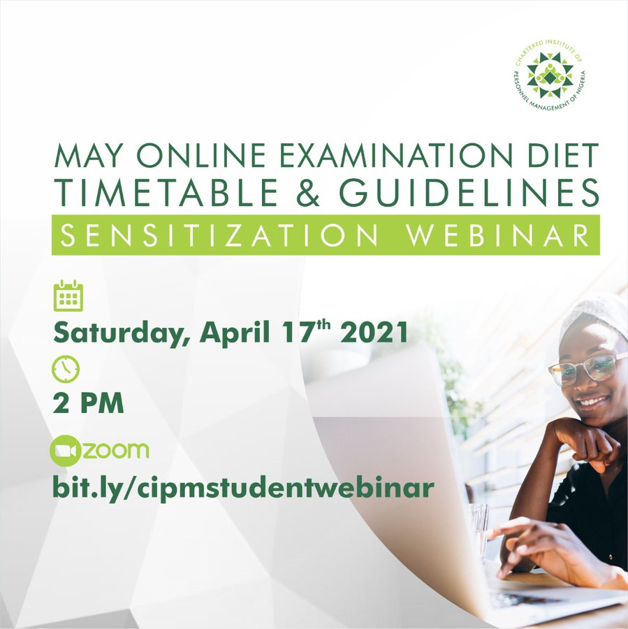 CIPM Webinar on May 2021 Online Examination Diet Timetable and Guidelines