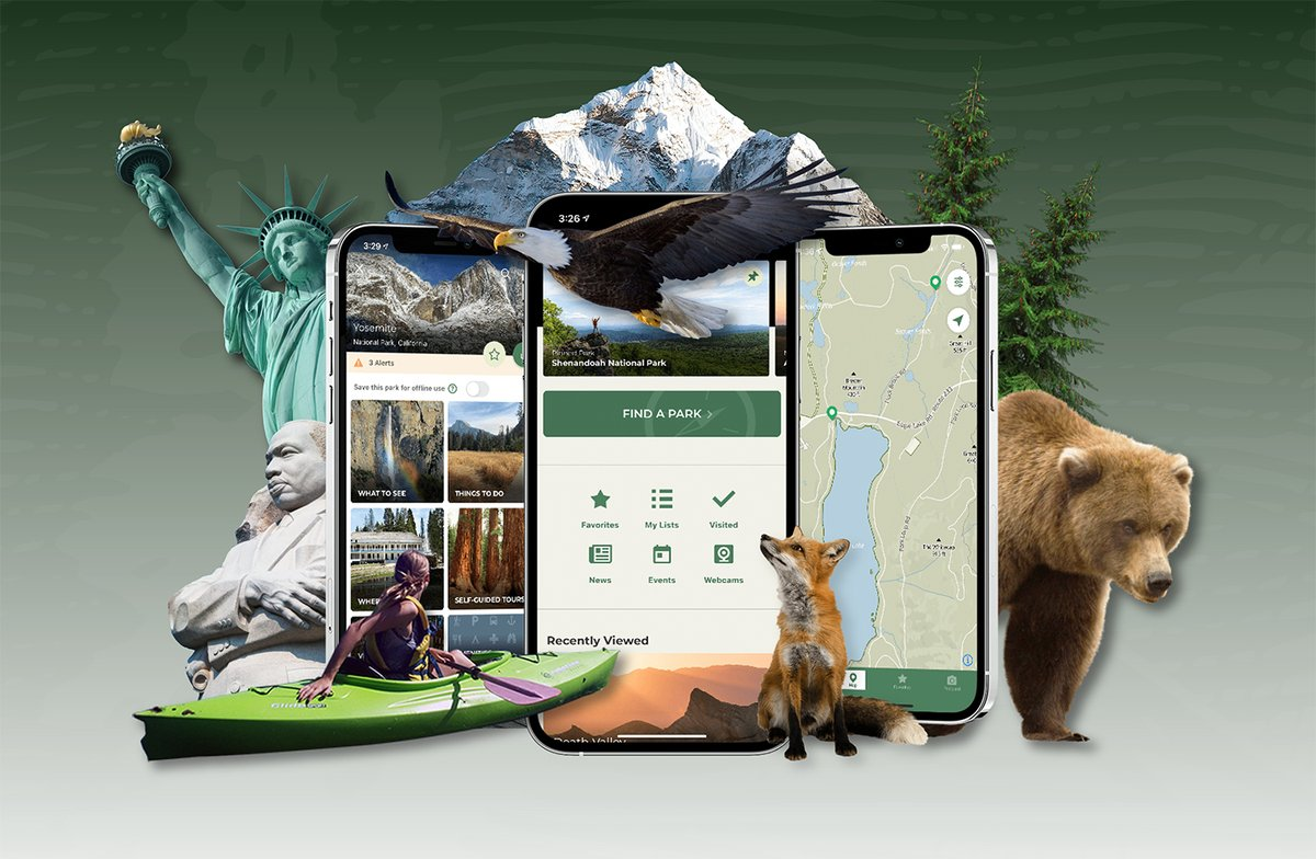 Check out the #NPSApp, officially released today! This is a great tool to have when visiting any of the 400+ @NatlParkService sites across the country during #NationalParkWeek and beyond.    Remember fees are waived tomorrow at Point Park for the first day of National Park Week.