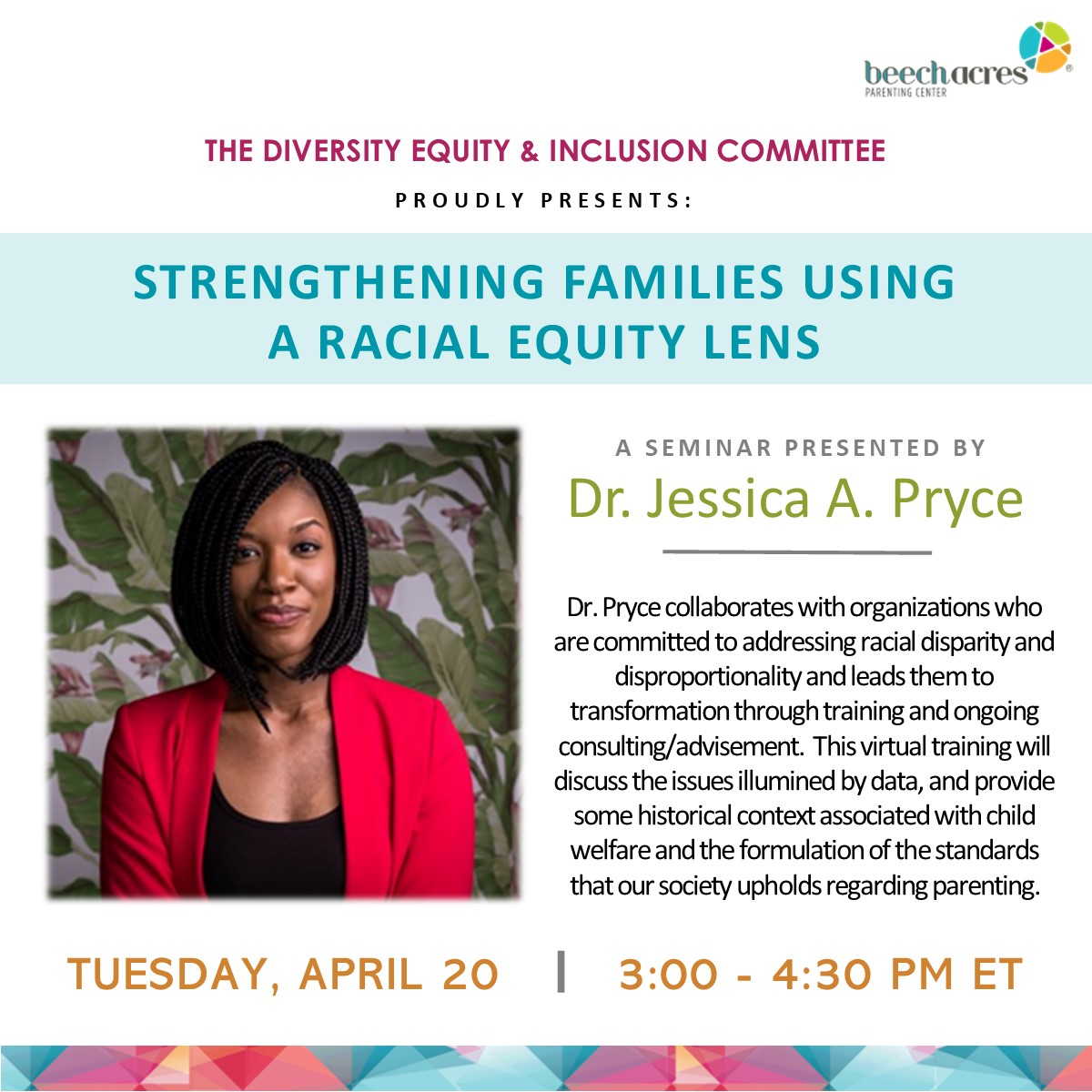 This event is tomorrow! Don't miss this opportunity to hear from @JessPryce https://t.co/khHVeGUM5R