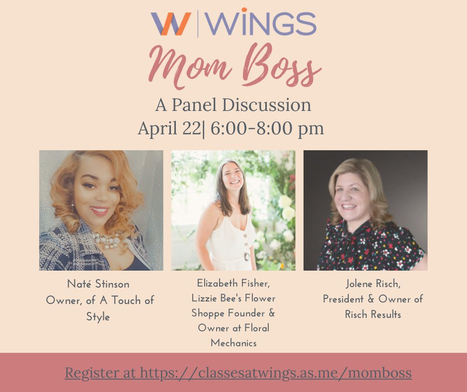 """test Twitter Media - We are excited to present three dynamic women for our """"Mom Boss"""" panel discussion. Join us as we discuss the struggles, learn how to balance motherhood and entrepreneurship, and ask the panel your mompreneur questions. #momboss #mompreneur https://t.co/3jrBw8uYMb"""