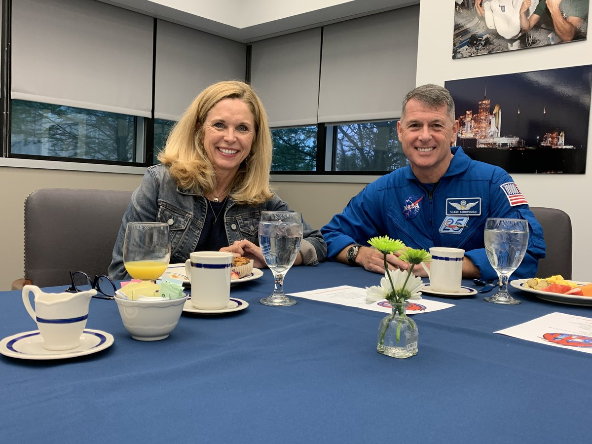 Departure breakfast this morning prior to heading to @NASAKennedy!