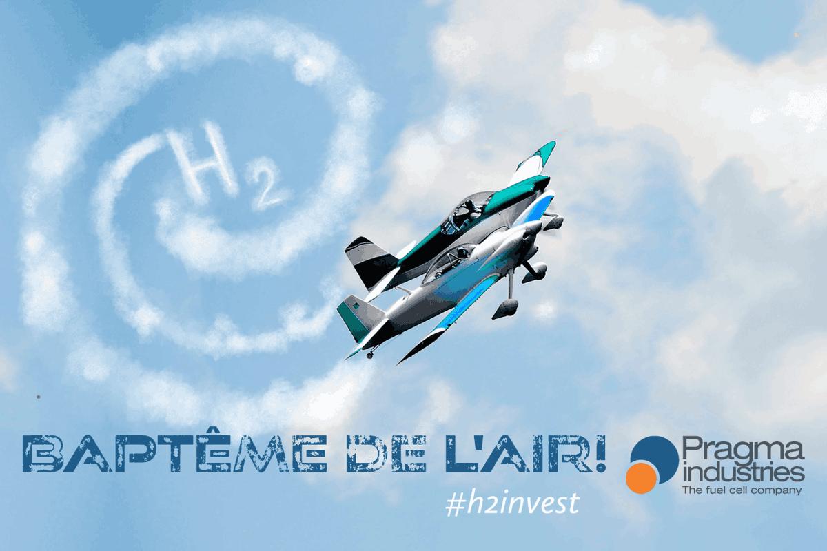 Baptême de l'air pour @PragmaFuelCells qui participe à 2 appels à projets en Occitanie qui ont franchi avec succès les présélections. Cette incursion dans le secteur aéronautique se fait en partenariat avec Blue Spirit Aéro(projet VOLTHYGE) et @DelairTech (projet MANGABHY).#h2now