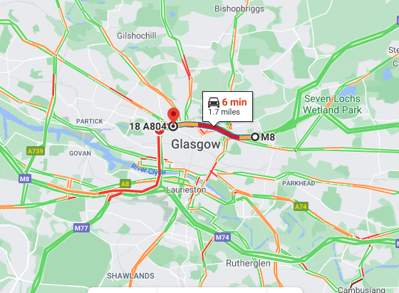 test Twitter Media - UPDATE❗️⌚️16:05  #M8 roadworks Glasgow🚧  Eastbound from J23 - delays approx 15 mins Westbound from J14 - delays approx 5 mins  @SWTrunkRoads @GlasgowCC https://t.co/clA6oFrxAT