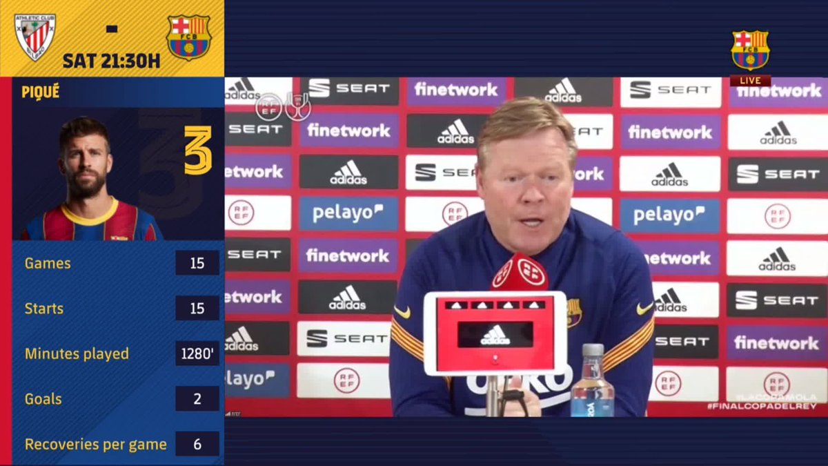 ⚡️ LIVE NOW! ⚡️ @RonaldKoeman press conference ahead of the Copa del Rey final! #CopaBarça 💪🟦🟥  🖥 Watch now for FREE on Barça TV+: https://t.co/v28AM27Zzq https://t.co/Jam1iQSetG