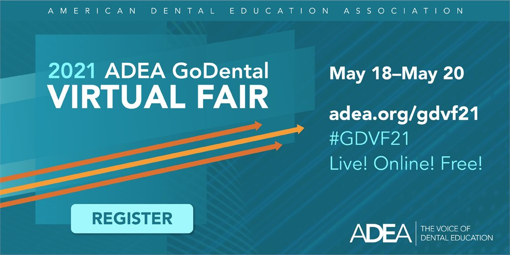 📣 Attention Predental Students: Join us at the ADEA GoDental Virtual Fair!   🦷 Learn more about the UNC Adams School of Dentistry at our interactive booth and live Zoom chat Thursday, May 20 from 3-6 p.m. -- register at the link below!  ✏️ Register here: https://t.co/O4LgsZfGgh