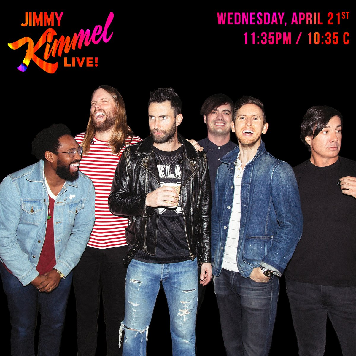 We'll be performing Beautiful Mistakes on @JimmyKimmelLive – Wednesday 4/21on ABC! #KIMMEL https://t.co/CyfaCIOdyS