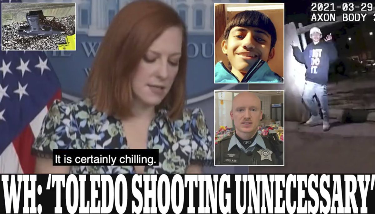Bidens press secretary says fatal shooting of Adam Toledo, 13, is a reminder cops use unnecessary force too often trib.al/o7R3XEN