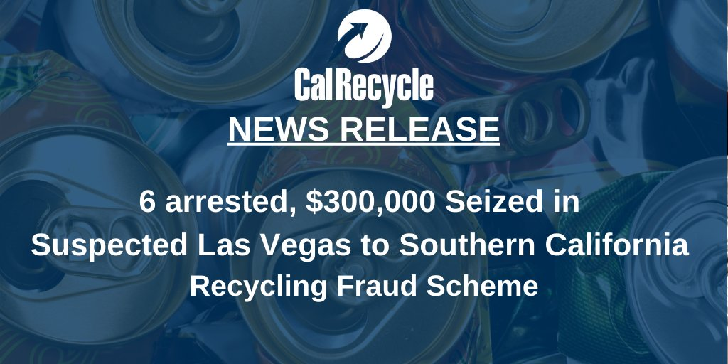 California agents arrested six suspects and are searching for a seventh in connection with a large-scale scheme to defraud the state's bottle and can deposit program. Read more: https://t.co/8o6o62fbCM https://t.co/OzibykX4Ur