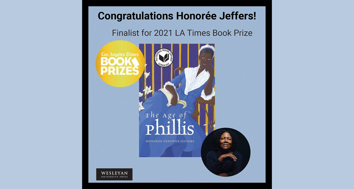 """test Twitter Media - Congratulations to Honorée  Fanonne Jeffers! """"The Age of Phillis"""" is a finalist for the LA Times Book Award in the poetry category, and the awards ceremony is tonight.   More information here: https://t.co/6NF59Ys2CQ #HonoreeJeffers #AgeofPhillis #LATimes #LATimesBookAward https://t.co/451Ogd82kp"""