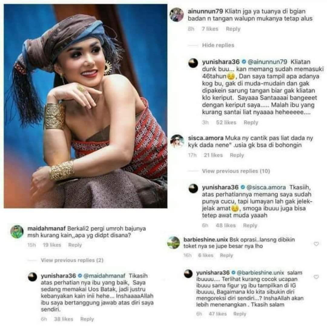 Jawaban santai Yuni Shara saat dinyinyiri netizen