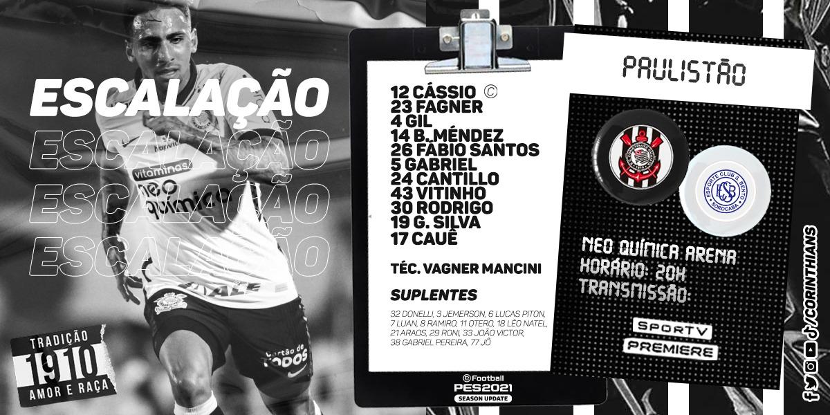 Mancini volta a escalar time que bateu o Guarani há duas rodadas com apenas uma mudança, Cantillo ao invés de Ramiro. Luan começa no banco!  #NeoArenaENM