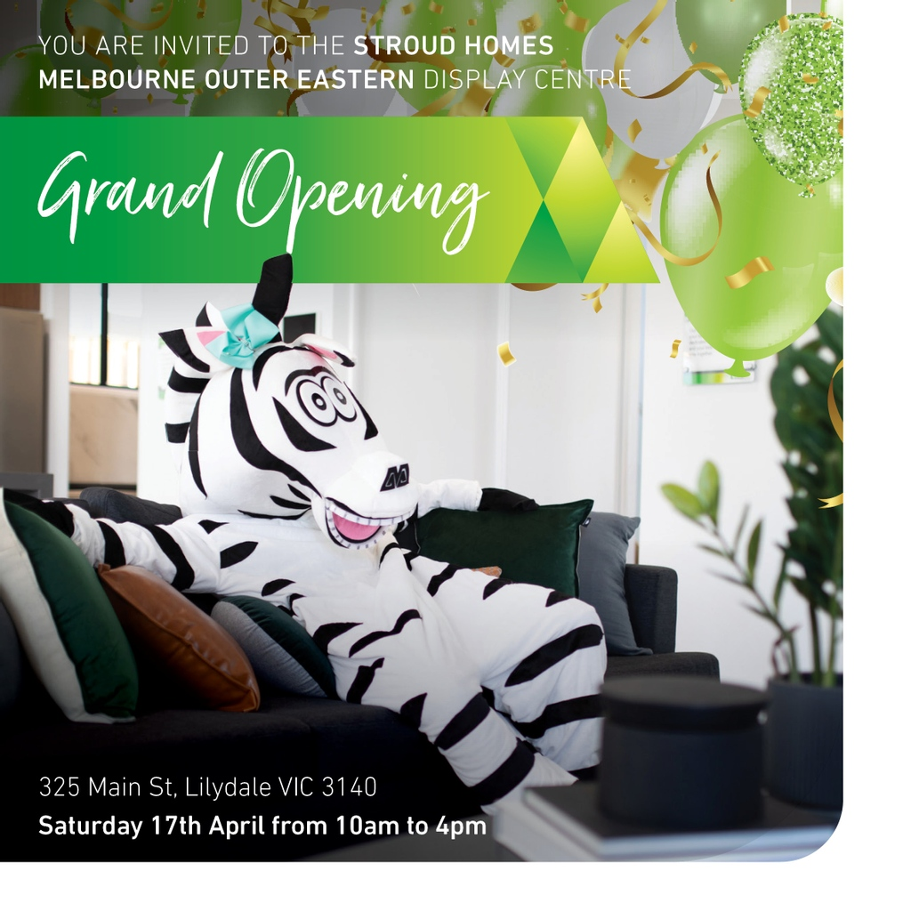 Today is the day of the Stroud Homes Melbourne Outer Eastern Grand Opening! Come along and help us warm our new display centre. This will be a great day for all the family with FREE face painting, balloons and Vennespresso coffee. #grandopening #stroudhomes #feelslikehome https://t.co/NB8EKRy0B2