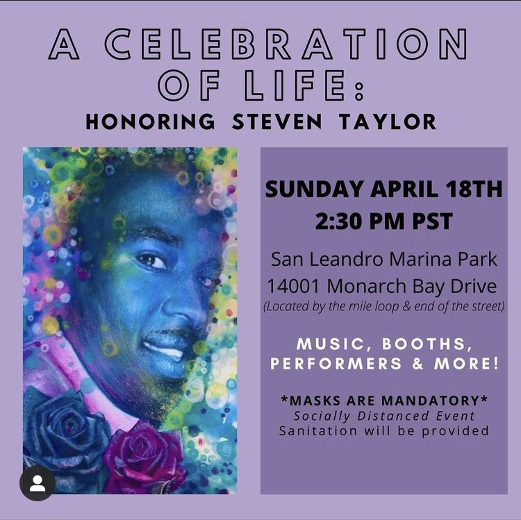Honoring Steven Taylor: A Celebration of Life @ San Leandro Marina Park