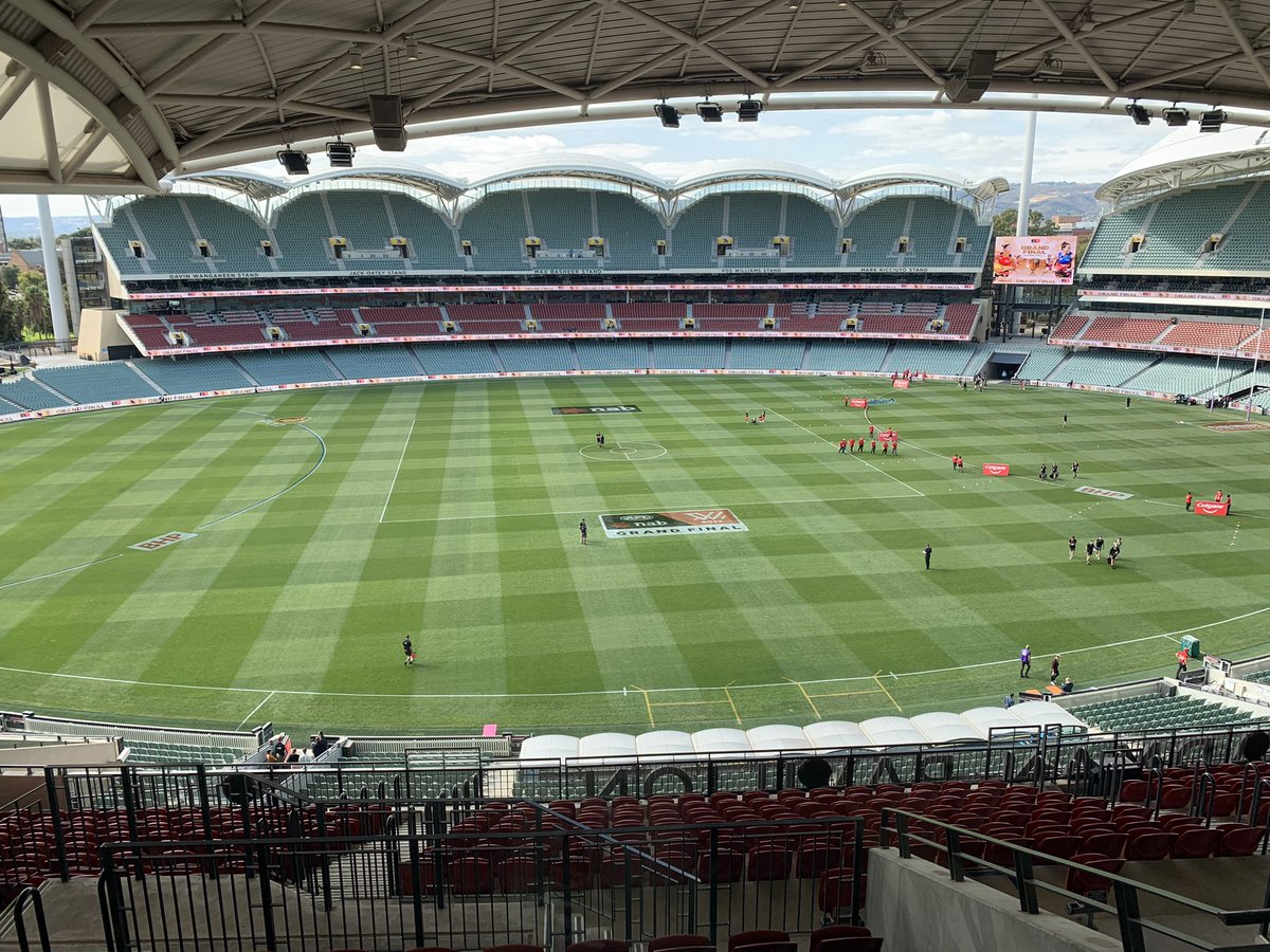 Very excited to be given the opportunity to call the #AFLWGF.   Tune into @WomensFootyAFL on @AFLNation live from the Adelaide Oval for @CrowsAFLW & @lionsaflw from 1pm AEST. @PfitznerMiles & @rjdouglas26 guiding you through the action this afternoon. https://t.co/Z2iYhcEv8u.