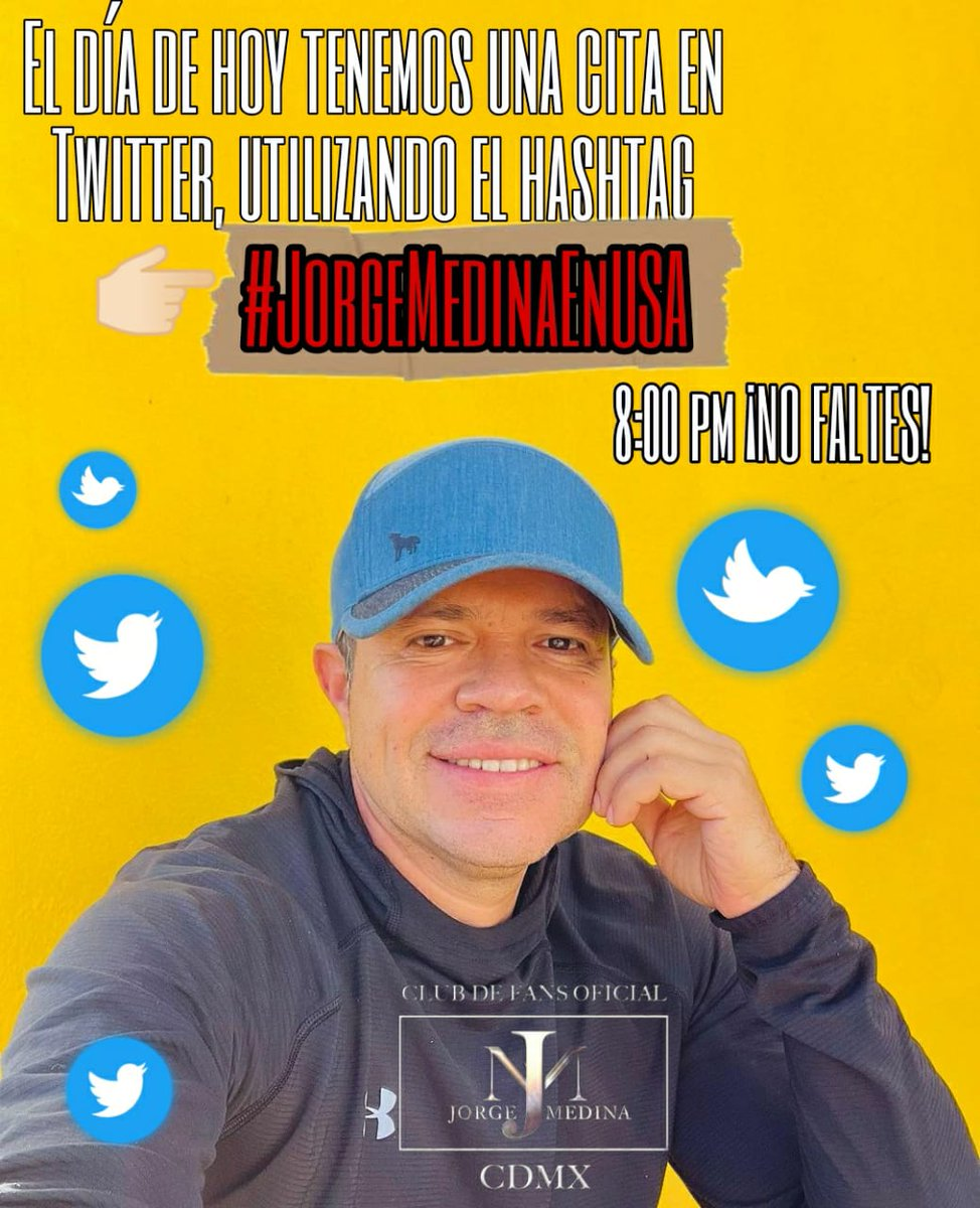 Hoy toca TWITTER para apoyar al mejor a el  @j_medina37  #JorgeMedinaEnUSA  #YoSoySedeCDMX🌃 @CDMX_FanClubJM ❤️ https://t.co/AP8efCeP8o